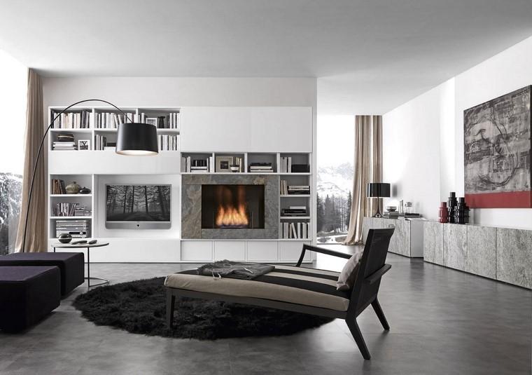 Soggiorno moderno con camino - idee e design - Archzine.it