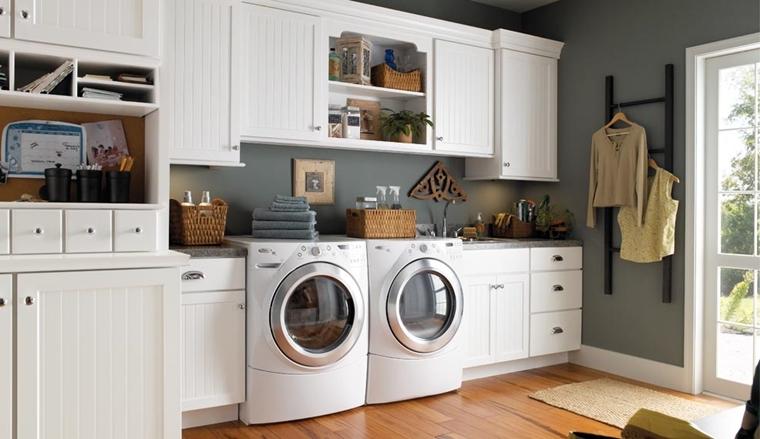 soluzioni organizzare bucato angolo lavanderia