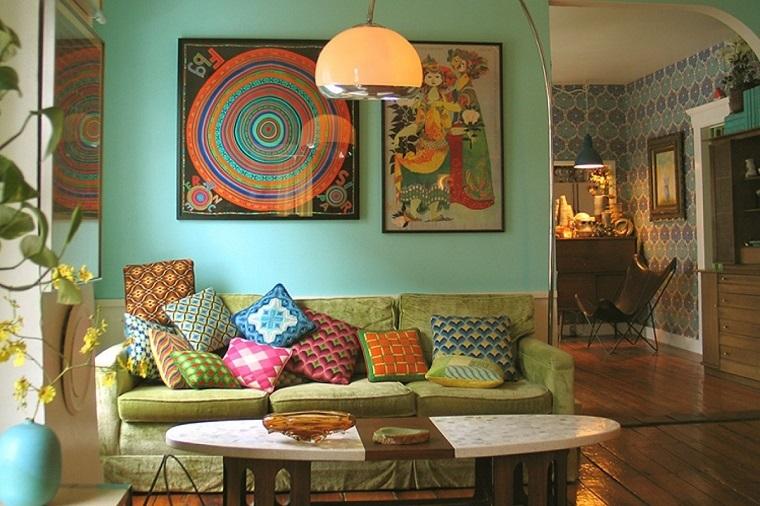 stile bohemien oggettistica per la casa soggiorno