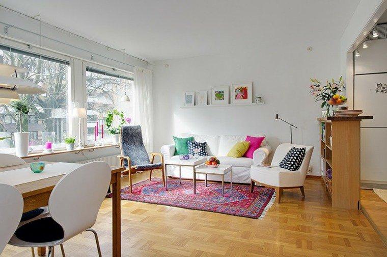 stile boho appartamento piccolo tappetto