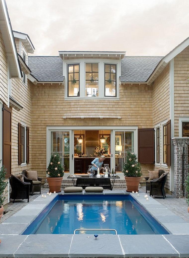 stile elegante idea piscina cortile interno casa