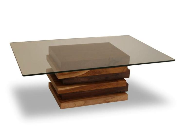 tavolo stile minimal legno vetro