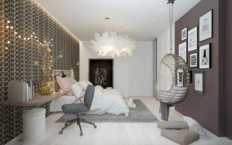 testata letto camerette ragazza decorazioni luminose