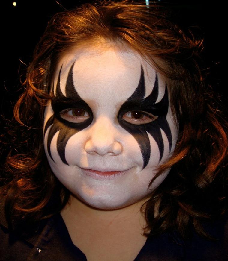 trucco per halloween maschera bambina