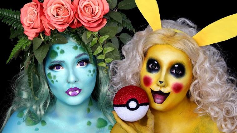 trucco per halloween maschera pokemon