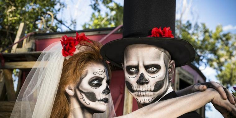 trucco per halloween maschera sposi faccia squardo