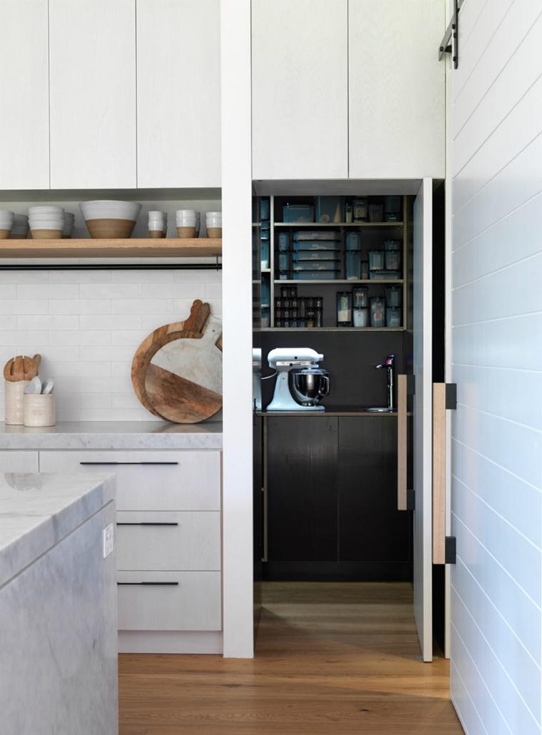 utilizzare qualsiasi nicchia cucina organizzare dispensa divisa porta