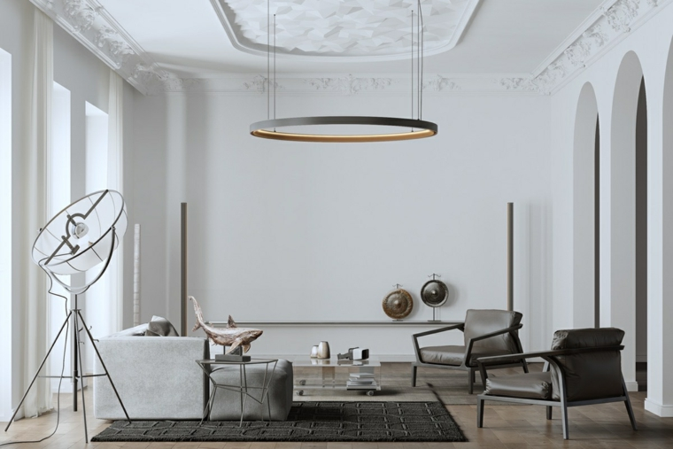 vintage salotto stile moderno sfumature grigi