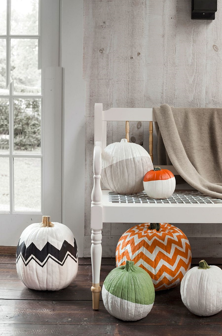 zucca di halloween forme geometriche stile