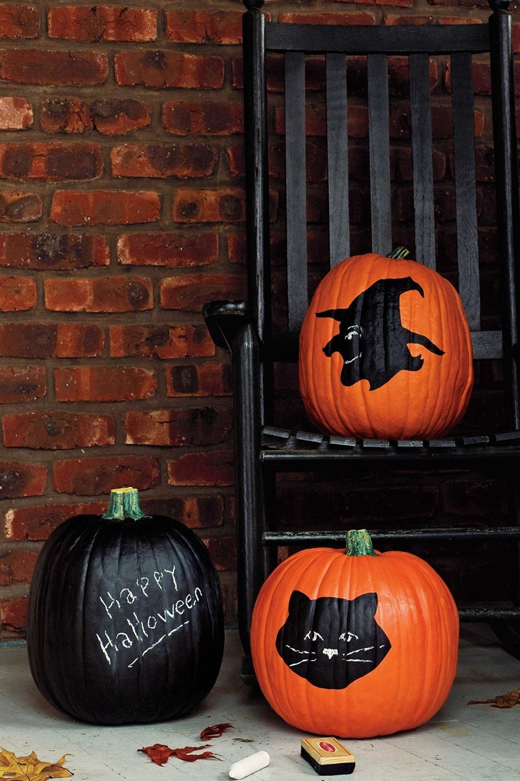 zucca di halloween pittura lavagna motivi spaventosi