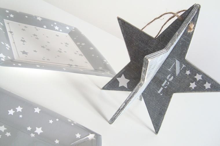 accessorio legno forma stella decorare casa