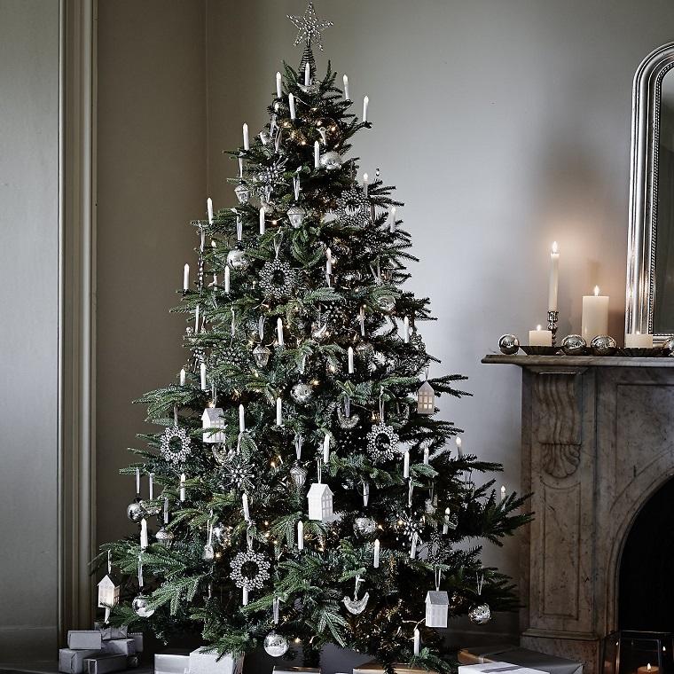 addobbi alberi di Natale silver