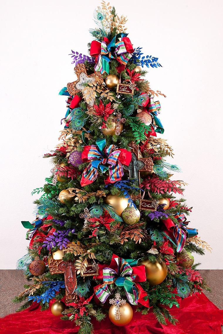 addobbi albero di Natale originali colorati