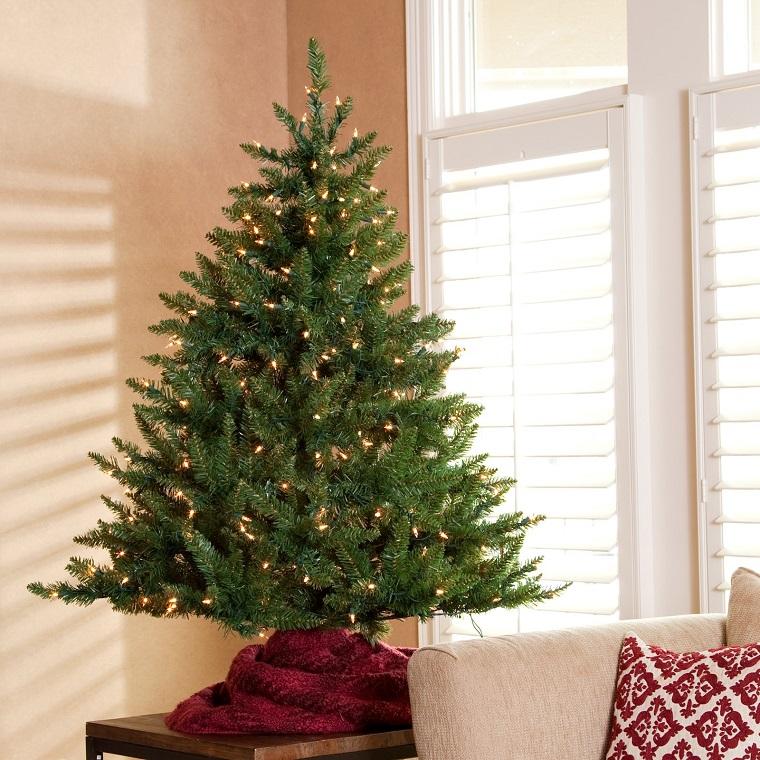 addobbi albero di Natale solo luci