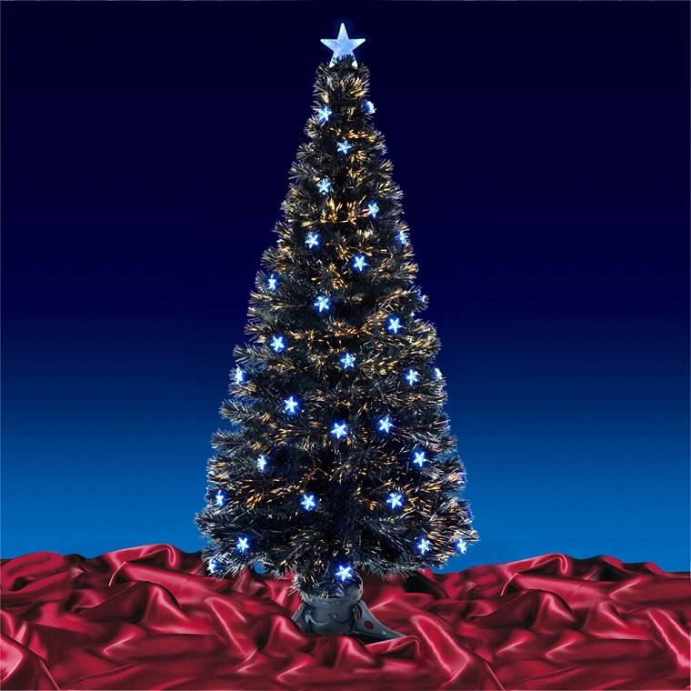 addobbi albero di Natale stelle luminose