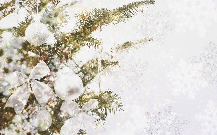 addobbi di Natale bianchi idea chic