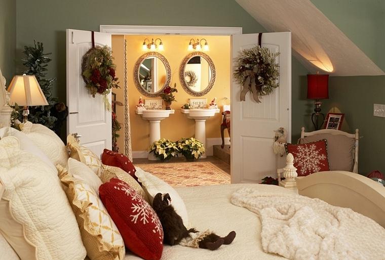 addobbi natalizi allestire camera letto modo originale