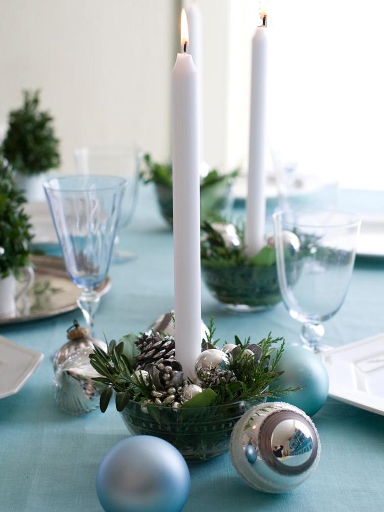 addobbi natalizi candele palline centrotavola