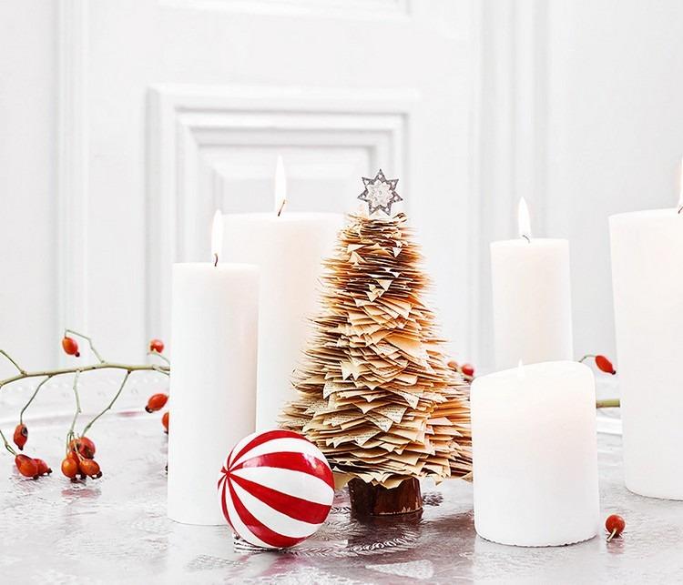 addobbi natalizi fai da te decorare tavola modo particolare