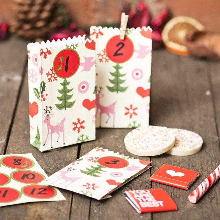 addobbi natalizi fai te bustine preparate ogni giorno avvento