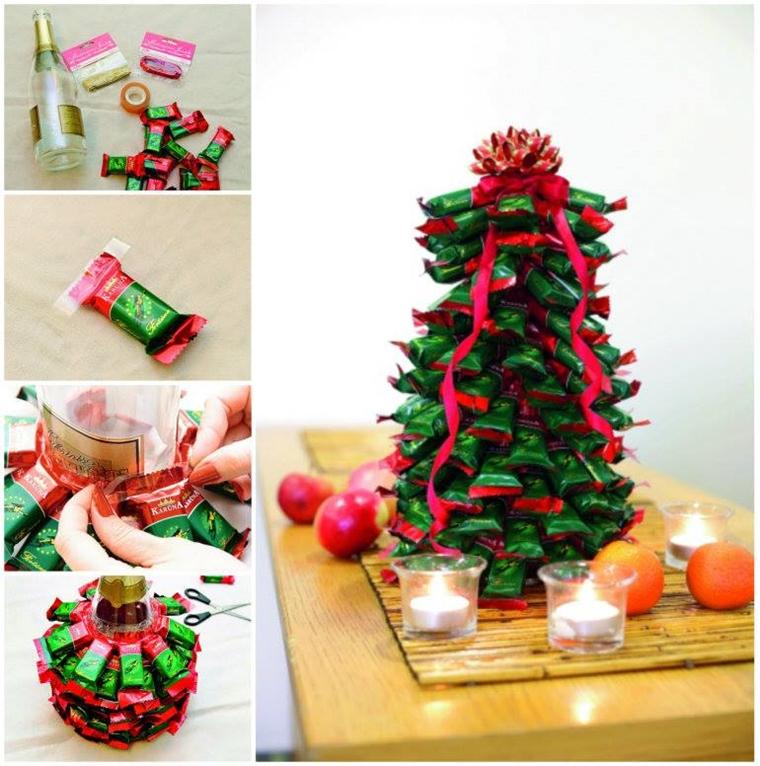 addobbi natalizi fai te utilizzare cioccolatini