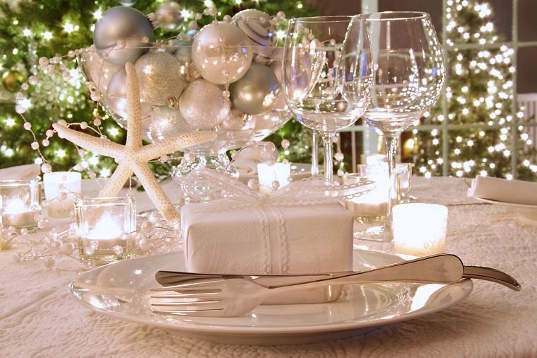 addobbi natalizi idea centrotavola stella bianca