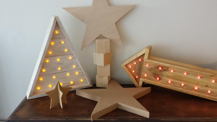 addobbi natalizi legno illuminati luminarie