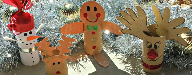 addobbi natalizi per bambini semplici carta