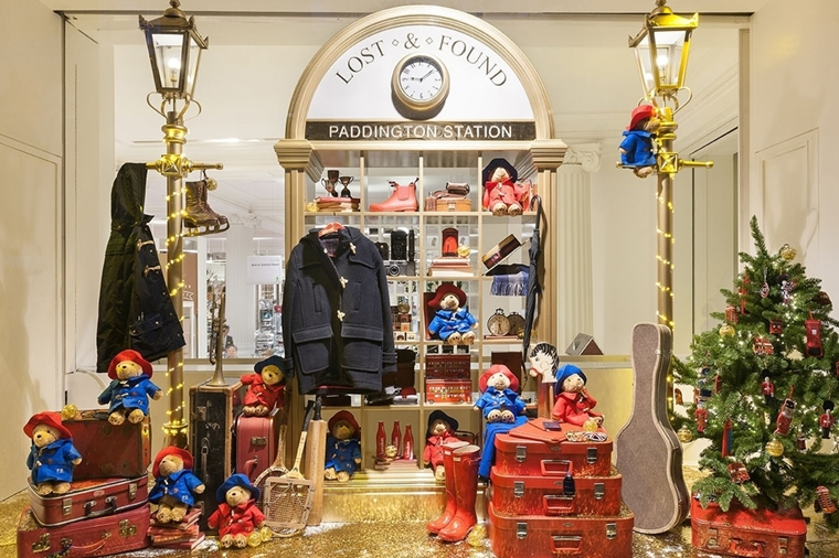 addobbi natalizi per negozi paddington