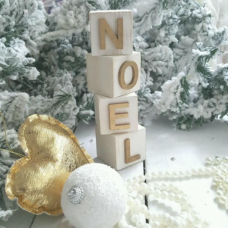 addobbi natalizi shabby chic cuoricino pallina bianca