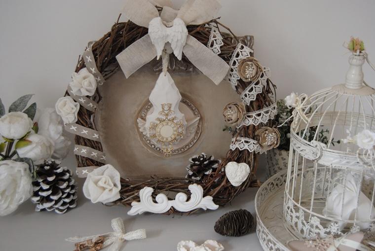 addobbi natalizi shabby chic festone legno