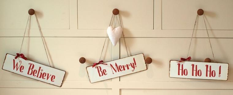 addobbi natalizi shabby chic scritte auguri