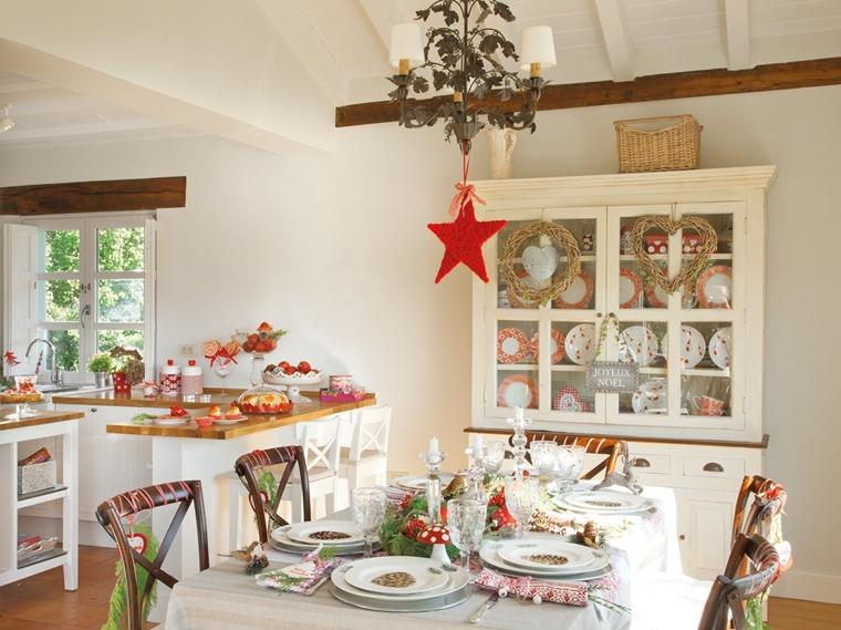 addobbi natalizi tavola ben attrezzata natale
