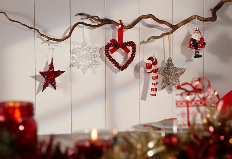 addobbi natalizie casa colore rosso