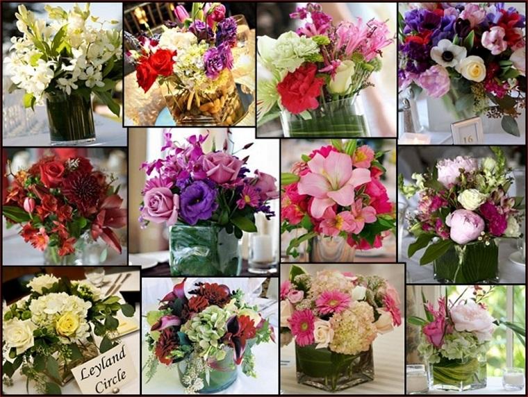 addobbi primavera collage composizioni fiori