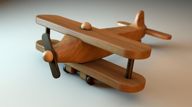 aeroplano legno divertente originale regalo