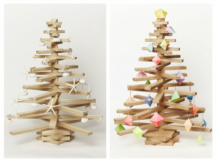 albero di natale legno semplice minimal