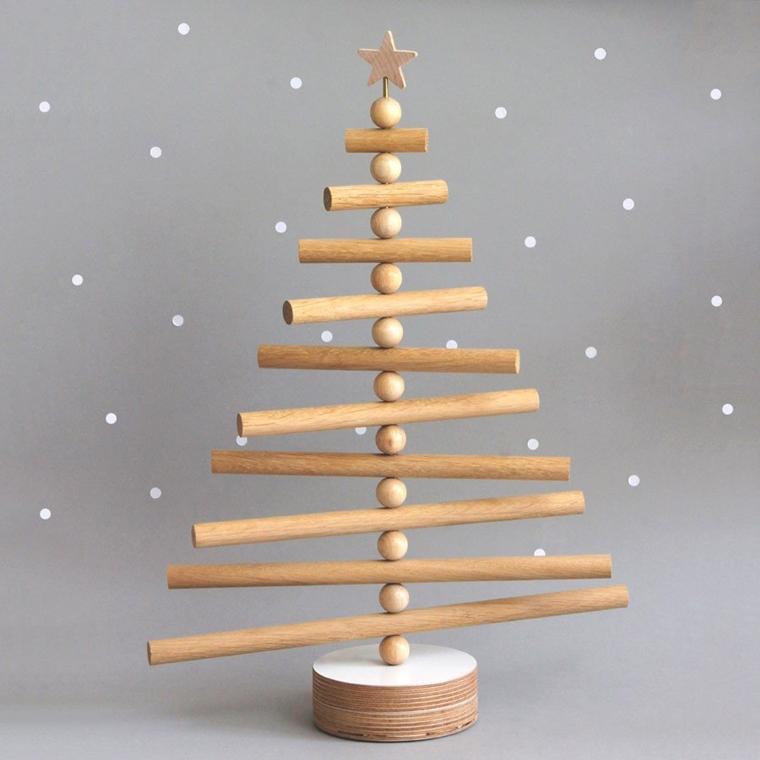 albero natale legno stellina cima