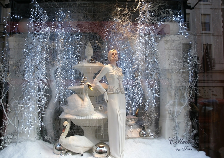 allestimento natalizio negozio neve artificiale