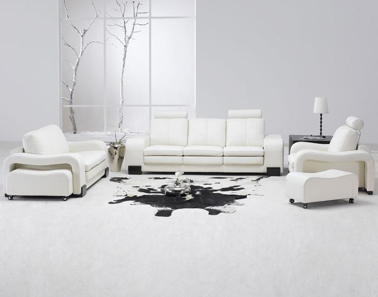 Salotti Bianchi Moderni.Salotti Moderni In Stile Minimal Idee Nuove Di Tendenza