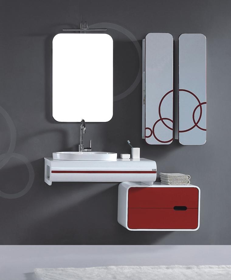 Arredo bagno idee eleganti e moderne da copiare - Arredo bagno rosso ...