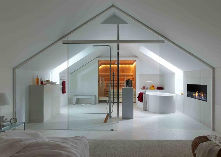 Bagno In Camera Con Vetrata : Arredamento bagno idee per la camera da letto archzine.it