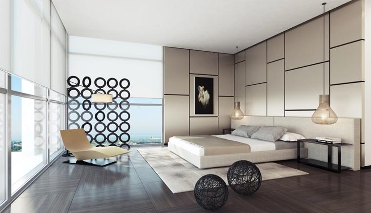 arredamento camera da letto moderna lampadari sospensione