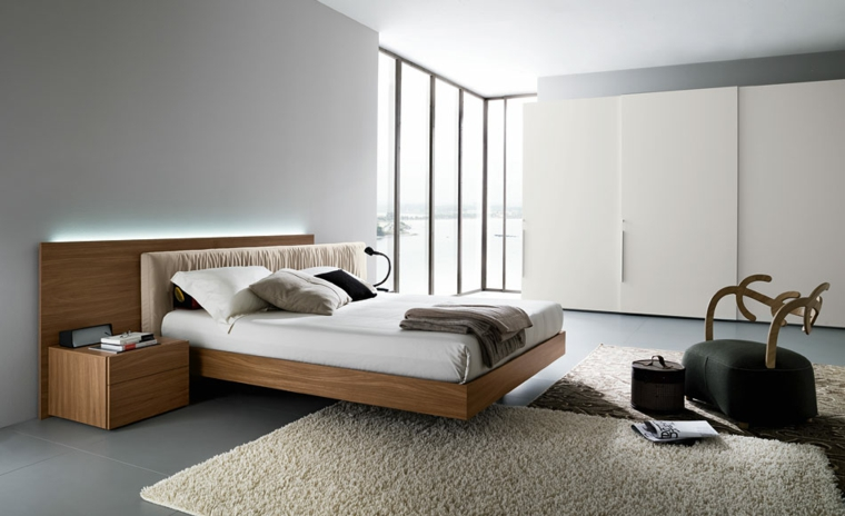 arredamento camera da letto moderna tutto legno