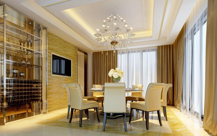 arredamento classico cantinetta moderna sala