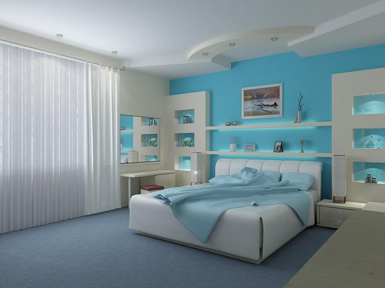 arredamento design moderno bianco blu
