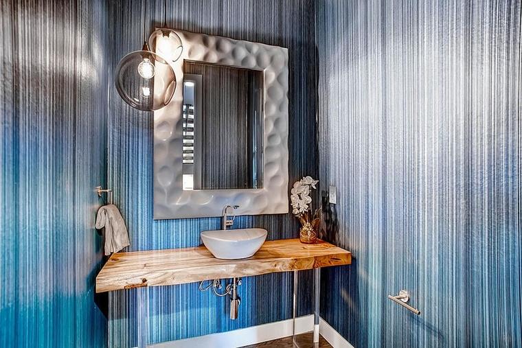 arredamento moderno bagno lavabo appoggio
