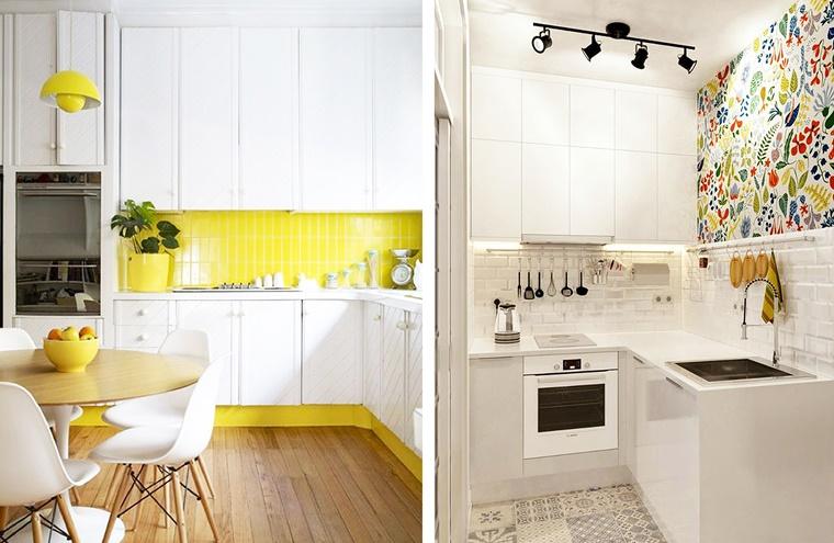 Cucine bianche abbinamento perfetto con lo stile moderno for Decorazioni cucine moderne