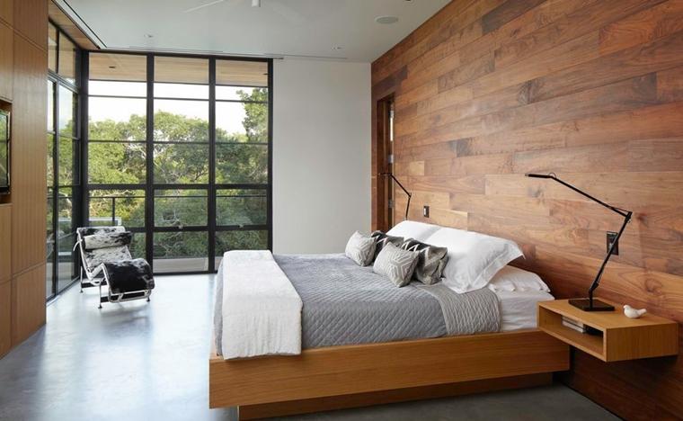 arredamento moderno stile minimal camera letto