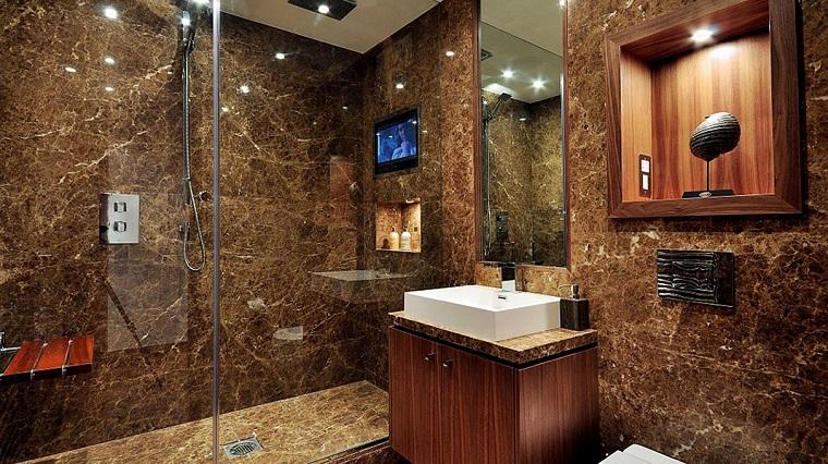 arredamento rustico ambiente bagno naturale